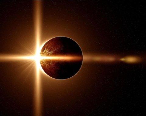 Неперевершені кадри сонячного затемнення зняли з космосу