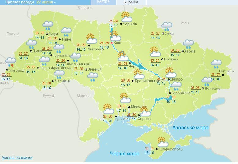 Спека, але з дощами: синоптики розповіли, якою буде погода на вихідних