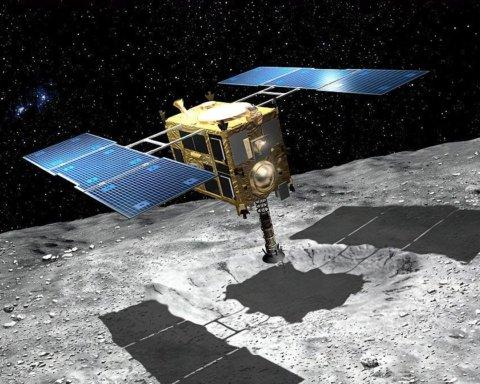 Японский космический зонд записал собственное столкновение с астероидом на видео