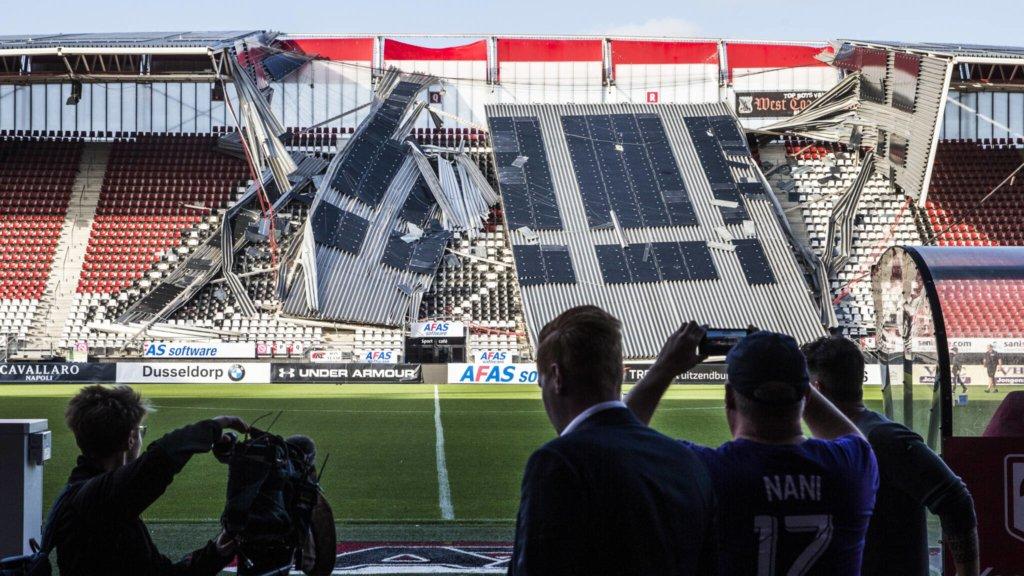 Добре, хоч не під час матчу: на стадіоні суперника Маріуполя в Лізі Європи обвалилася стеля