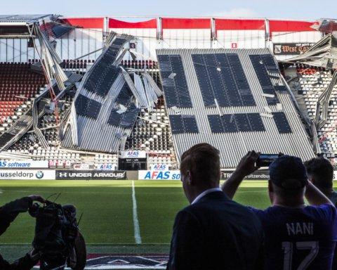 Хорошо, хоть не во время матча: на стадионе соперника Мариуполя в Лиге Европы обвалился потолок