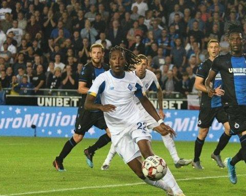 Динамо зіграло з Брюгге внічию 3:3 і вилетіло з Ліги чемпіонів
