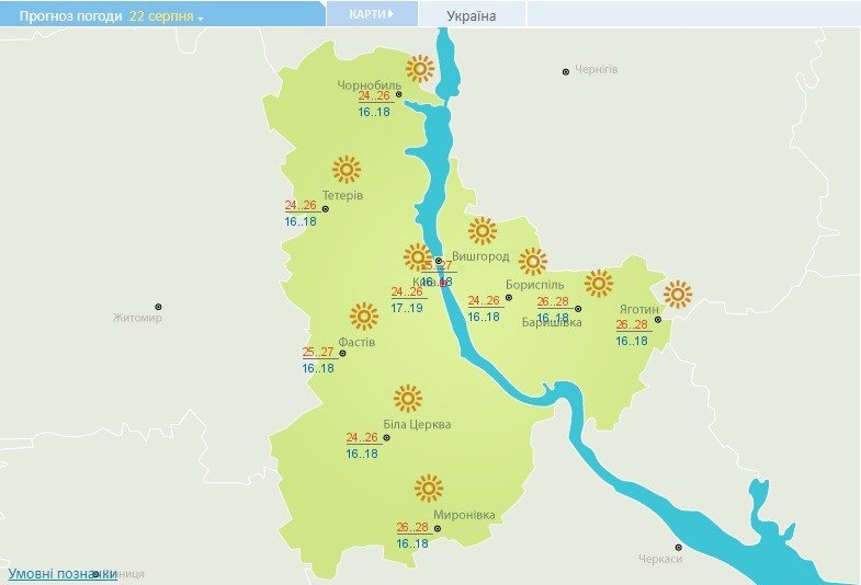 Жара отступила: какой будет погода в Киеве 22 августа
