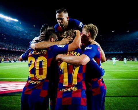Барселона устроила разгром Бетису в матче Ла Лиги