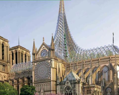 Дзеркальний дах і сучасний шпиль. Дизайнери показали, як буде виглядати Нотр Дам після реконструкції
