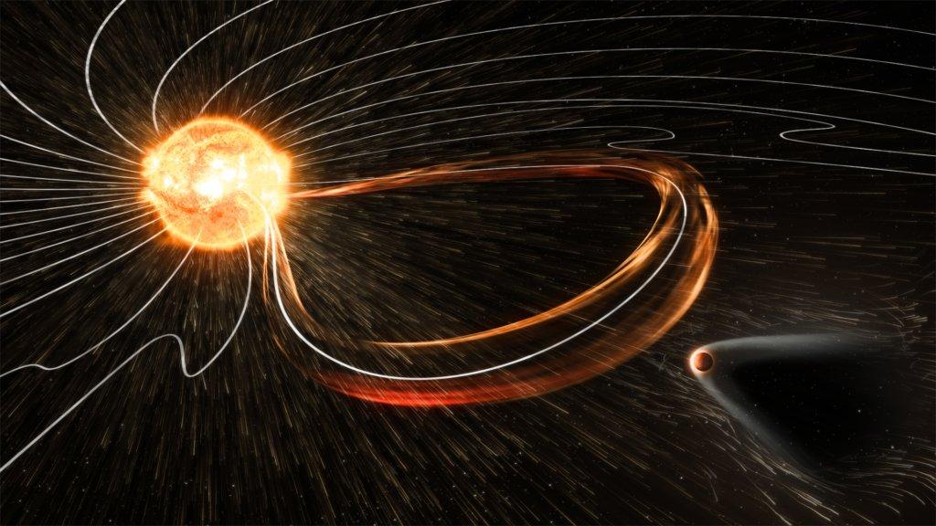 Колебания магнитного поля Земли в декабре
