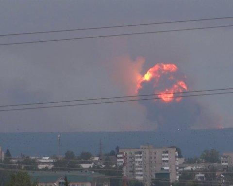 Склад боєприпасів у РФ загорівся вдруге за тиждень: майже два десятки поранених