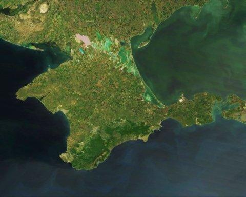 »Люди ходят по дну»: в сети показали последствия экологической катастрофы в оккупированном Крыму