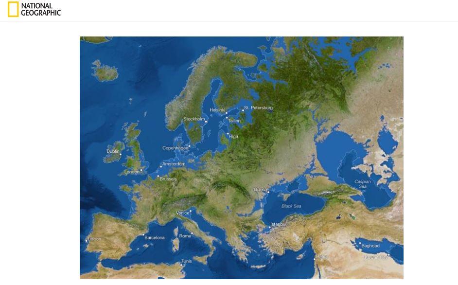 Коли весь лід на Землі розтане: як виглядатиме Україна