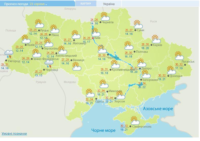 Погода на День прапора потішить українців сонцем
