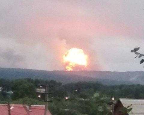 Збільшилася кількість постраждалих під час вибуху на військовому складі в Росії