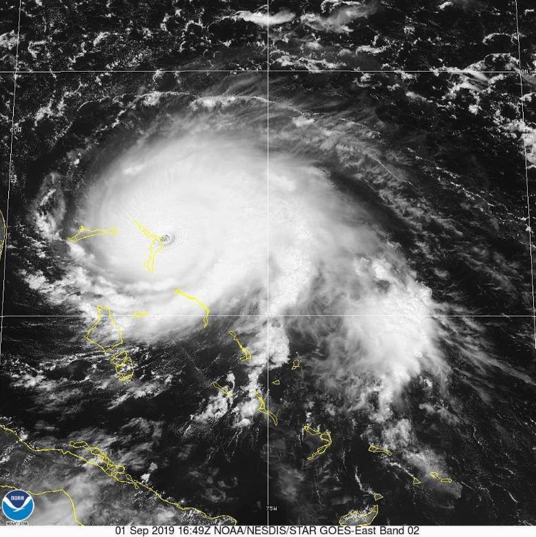 Катастрофічний ураган Доріан зняли з космосу