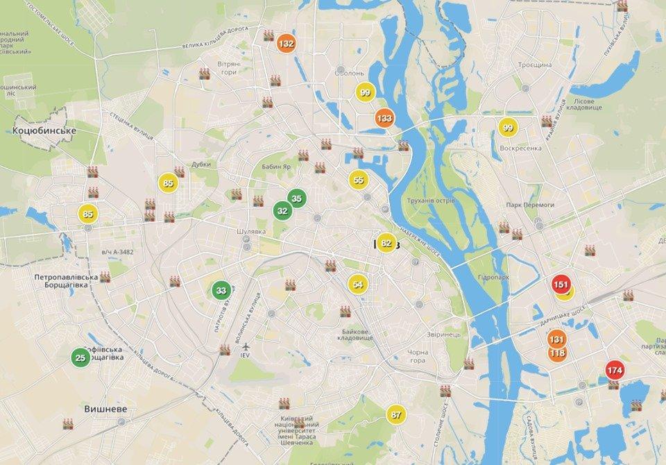 Неможливо дихати: Київ накрив задушливий смог та сморід