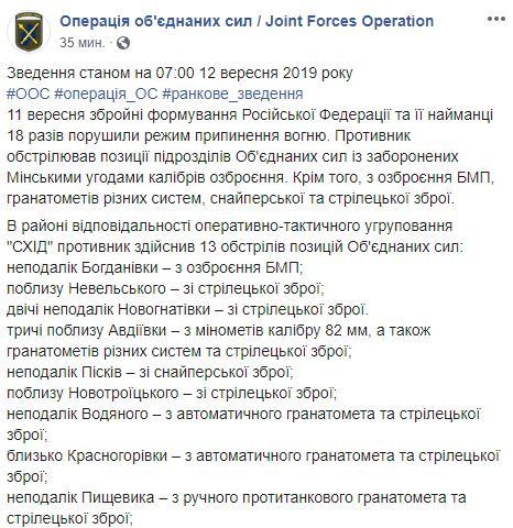 Война на Донбассе: боевики убили двоих украинских военных, еще одного тяжело ранили