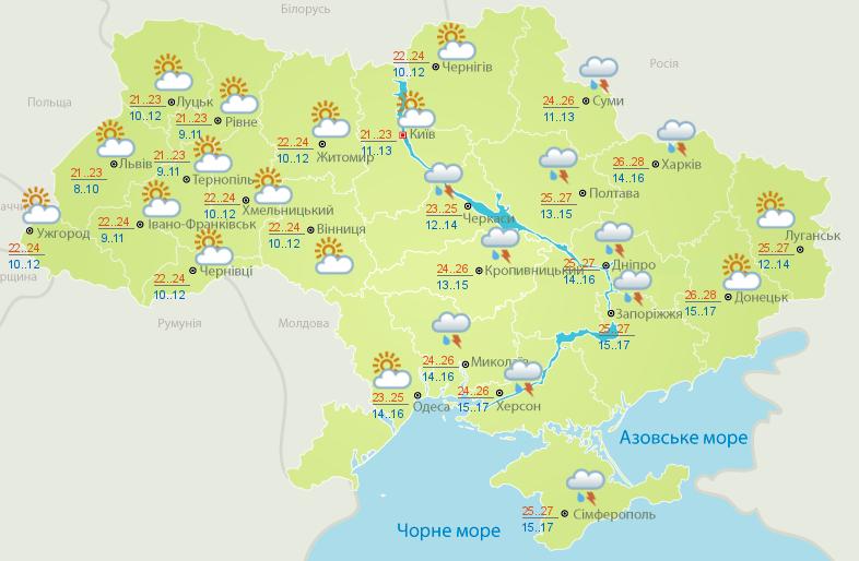 Официальная погода на 5 сентября: дожди только в некоторых областях