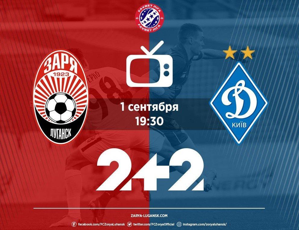 Зоря – Динамо – 2:2: онлайн-трансляція матчу УПЛ