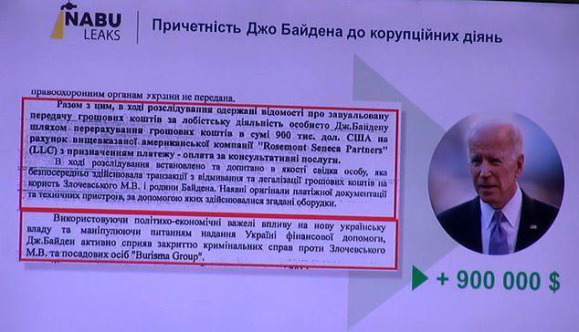 """Байден отримав 0 тис.  від """"Burisma Group"""" – нардеп"""