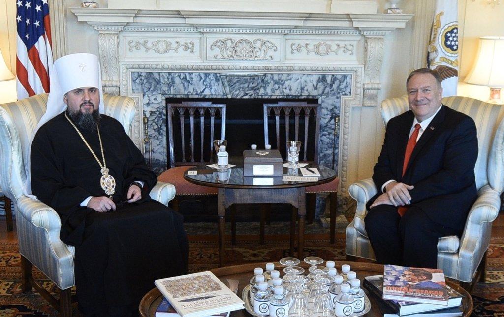 Епіфаній зустрівся з держсекретарем США: про що говорили