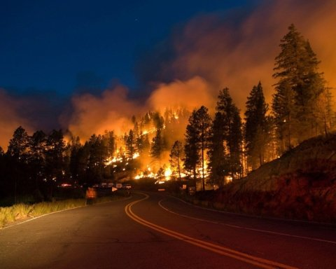 В США бушуют масштабные лесные пожары: власти эвакуировали более 100 тысяч человек