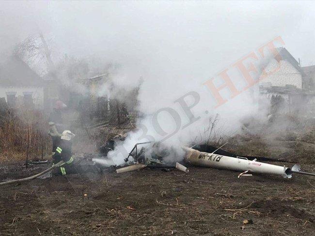На Полтавщине упал вертолет, погиб экс-министр аграрной политики