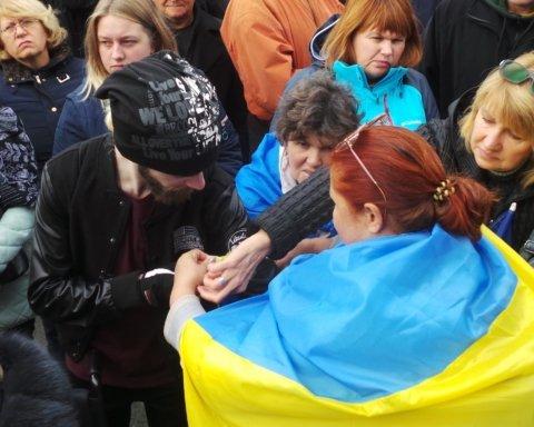Віче проти капітуляції у Києві: на Майдані зібралося кілька тисяч людей