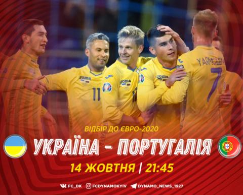 Украина — Португалия — 2:1: онлайн-трансляция матча отбора ЕВРО 2020