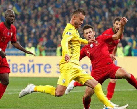 Весь стадион спел гимн Украины перед победным матчем с Португалией
