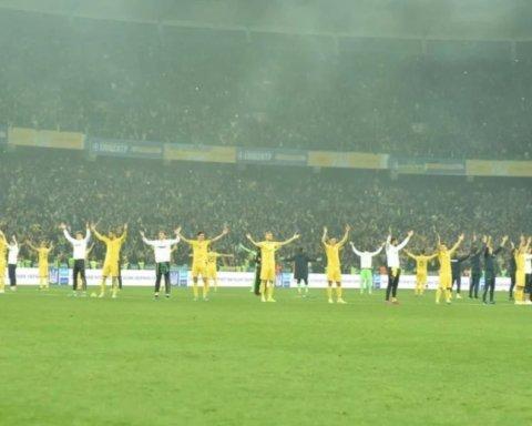 Сборная Украины отпраздновала победу над Португалией и выход на ЕВРО в стиле викингов