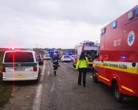 Ужасная авария в Словакии: пострадали и погибли десятки людей