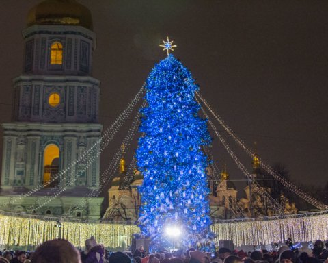 В Киеве начали устанавливать главную елку Украины: первые фото