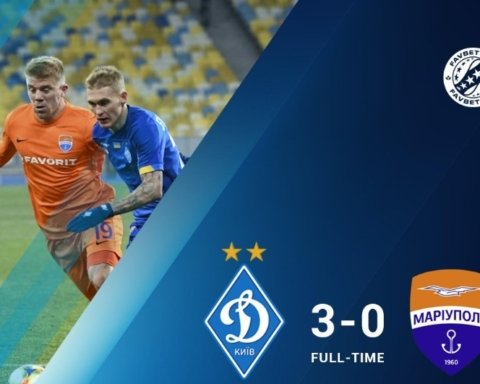 Динамо разгромило Мариуполь в Киеве