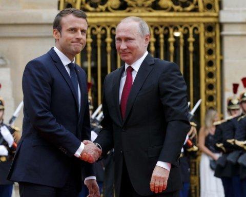 Путин и Макрона поговорили об Украине: все подробности