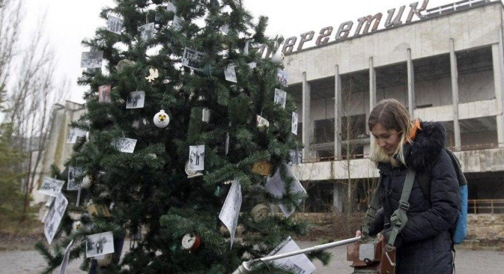 У Чорнобилі вперше за 33 роки з`явилася новорічна ялинка