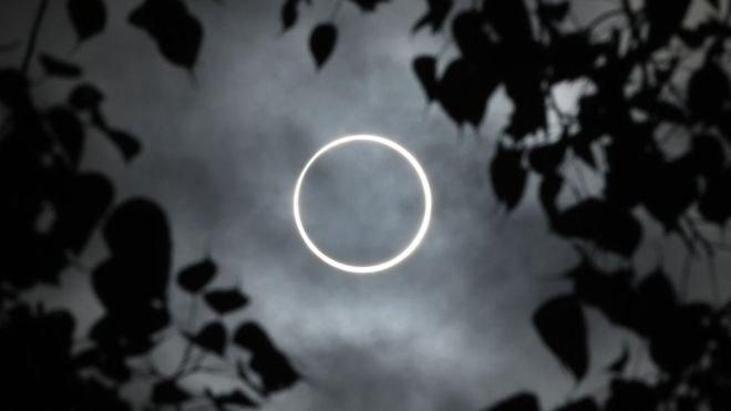 Сонячне затемнення 26 грудня: вражаючі кадри