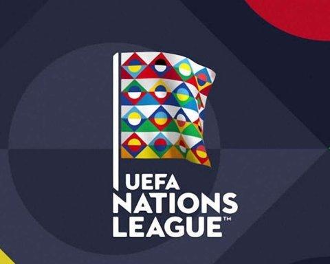Сборная Украины попала в третью корзину Лиги Наций следующего сезона