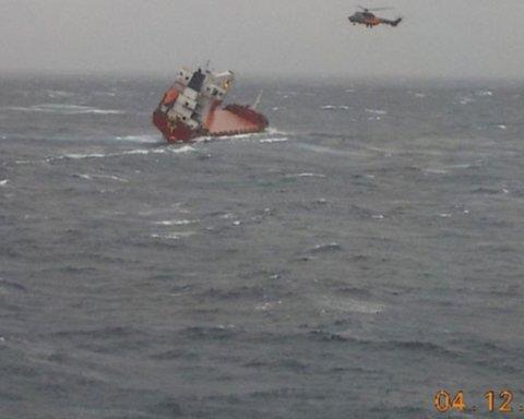 У побережья Греции потерпел бедствие украинский сухогруз: опубликовано видео спасательной операции
