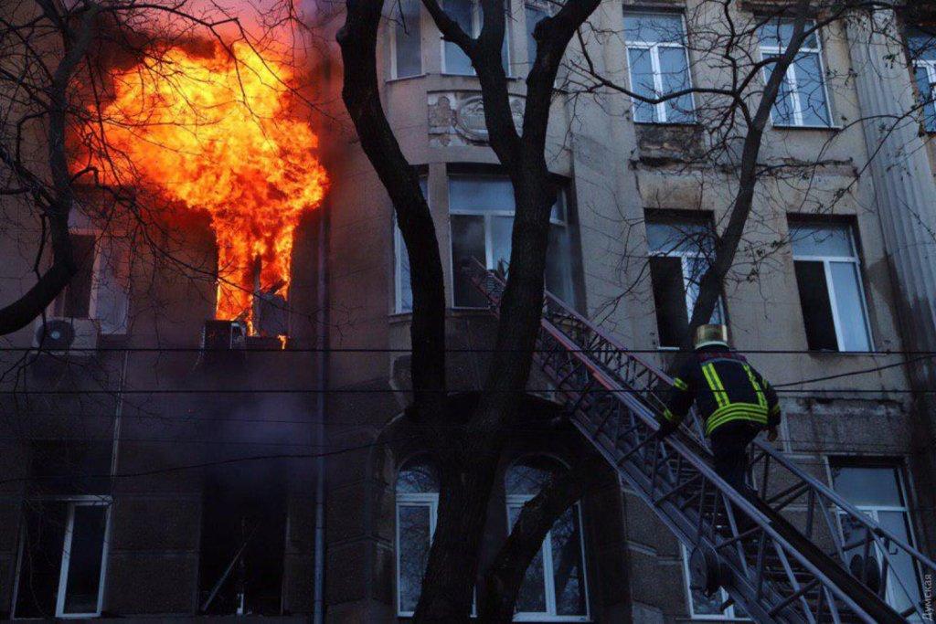 Пожар в одесском колледже: появились плохие новости о состоянии пострадавших