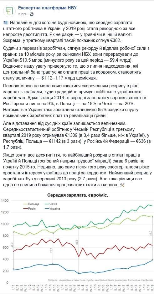 Меньше 400 евро в месяц: названы средние зарплаты украинцев