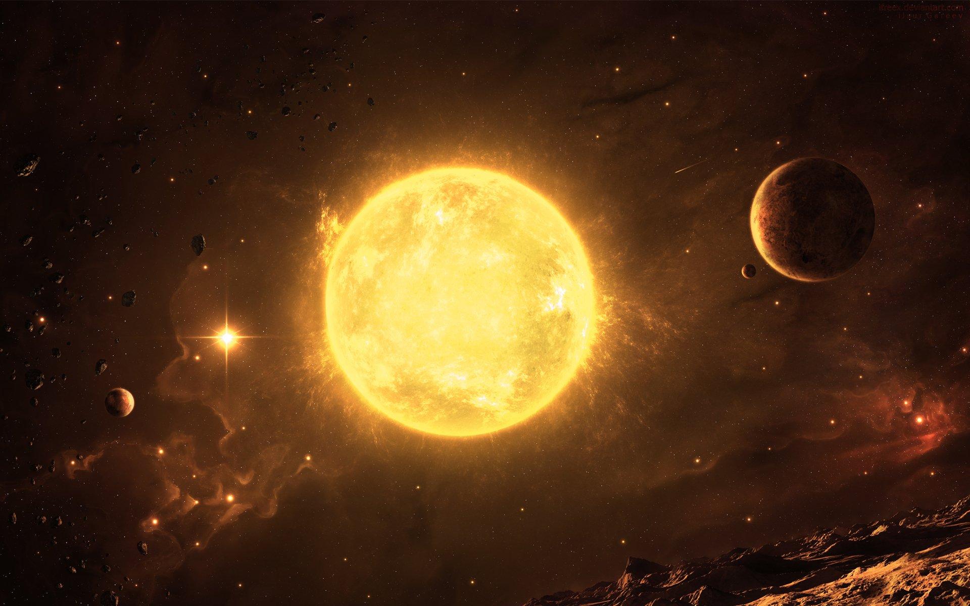 Солнце фото с космоса