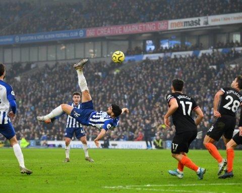 Челси и Брайтон сыграли первый матч в Европе в 2020-м году: гол через себя стал главным украшением
