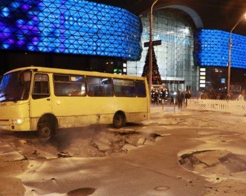 У Києві Ocean Plaza затопило окропом: масштаб НП показали з висоти