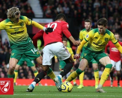 Манчестер Юнайтед — Норвич — 4:0: онлайн-трансляция матча АПЛ