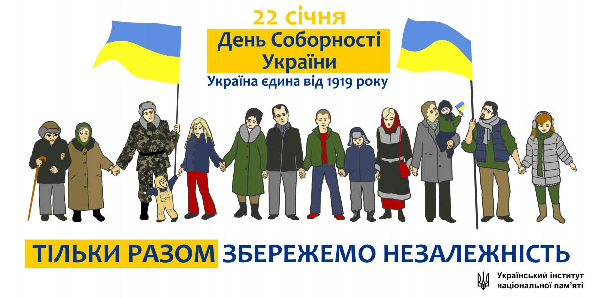 День Соборності України: красиві листівки і яскраві привітання