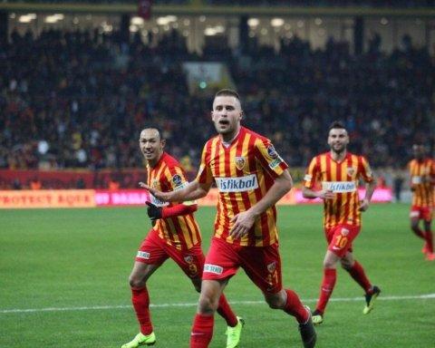 Украинец Кравец забил пятый гол в сезоне за Кайсериспор