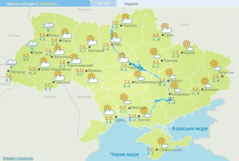 Будуть заморозки: синоптики дали прогноз погоди на вихідні