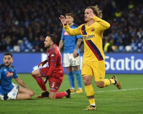 Как Наполи и Барселона сыграли вничью в матче Лиги чемпионов