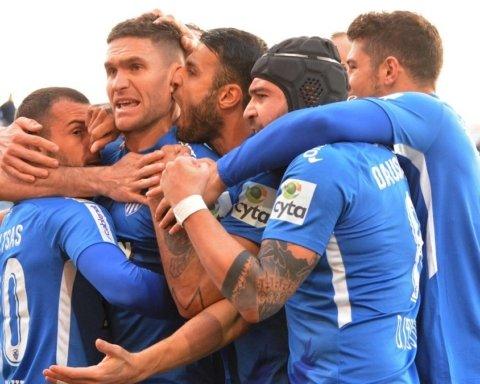 Украинец Селин отличился дебютным голом в чемпионате Кипра