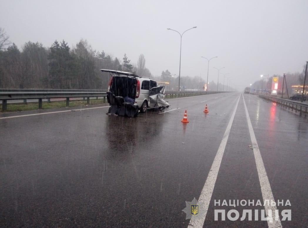 Под Киевом из-за полиции произошло масштабное ДТП