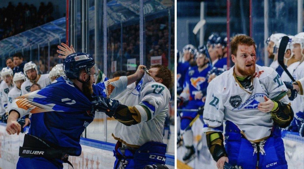 Український хокеїст побив росіянина під час матчу і отримав овації трибун