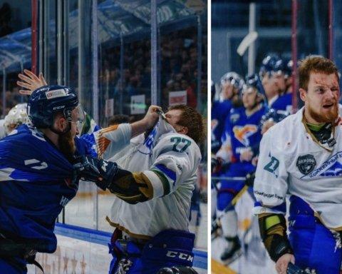 Украинский хоккеист избил россиянина во время матча и получил овации трибун